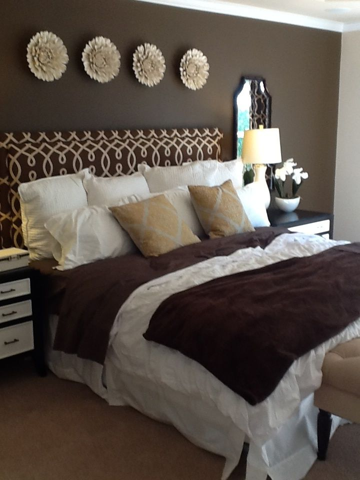 Brown bedroom decor designer unknown for the home pinterest Brown and green master bedroom ideas