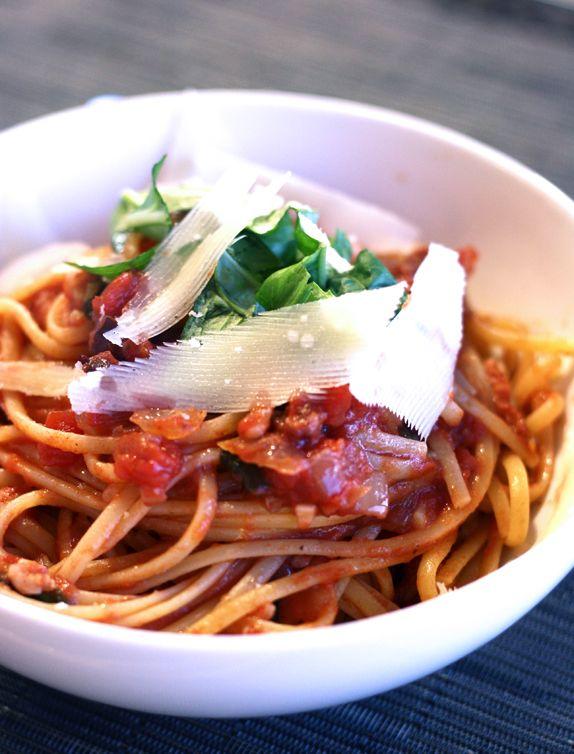 pasta all'amatriciana | Recipes | Pinterest