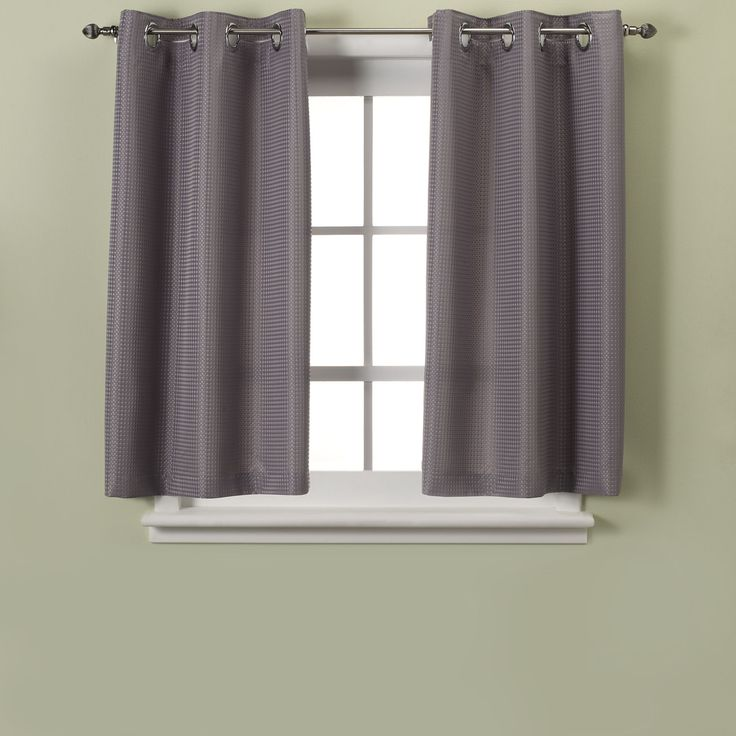 hookless waffle grey window curtain panel pair bedbathandbeyond