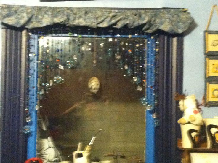 Beaded kitchen curtain, | crafts | Pinterest