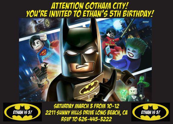 Batman Lego Birthday Invitation by TheDesignDog on Etsy ...