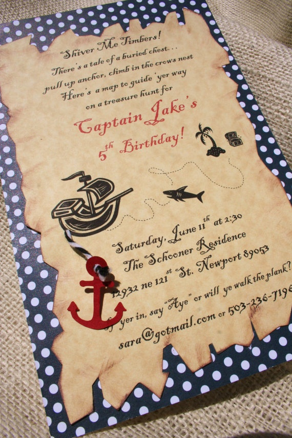Pirate Party Invite Wording for luxury invitation ideas