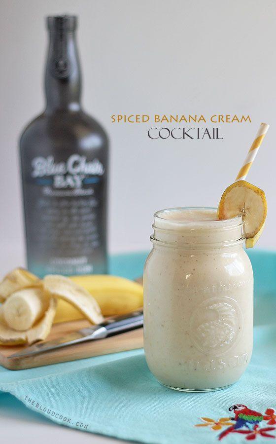 Spiced Banana Cream Cocktail (2 cups vanilla ice cream 2 medium ripe ...