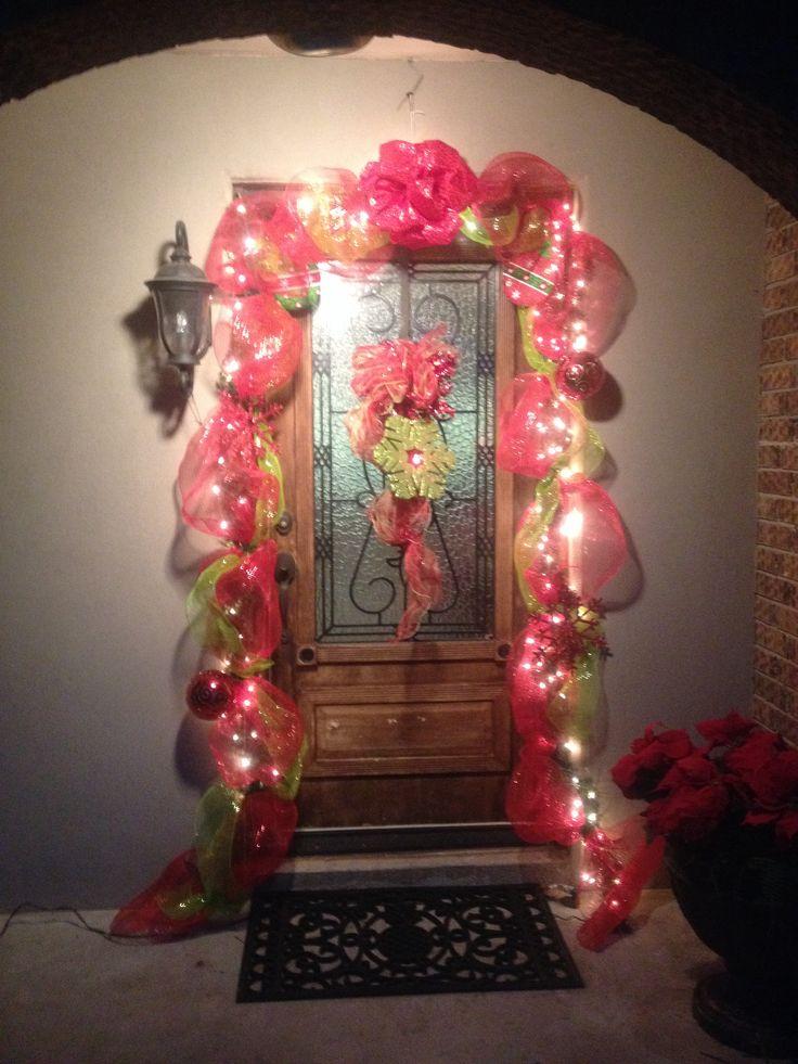 Christmas Wreath For Front Door Diy Pinterest