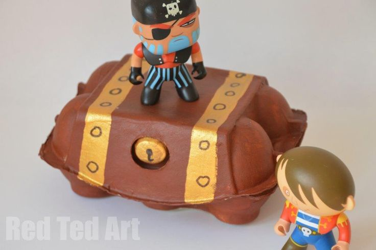 Egg Carton Treasure box (why didn't I think of this sooner)!
