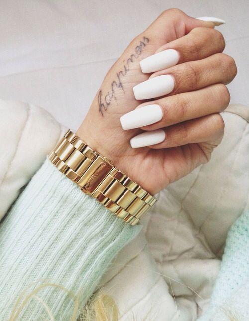 Matte WhiteWhite Matte Nails