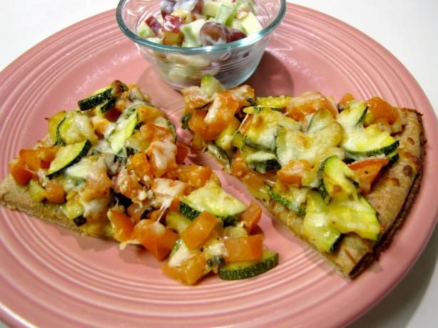 ... tomatoes - Zucchini and Fresh Tomato Pizza With Fontina - pretty tasty
