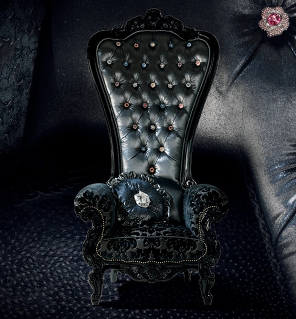 Goth Gothic Chair Victorian Furniture Fashion And