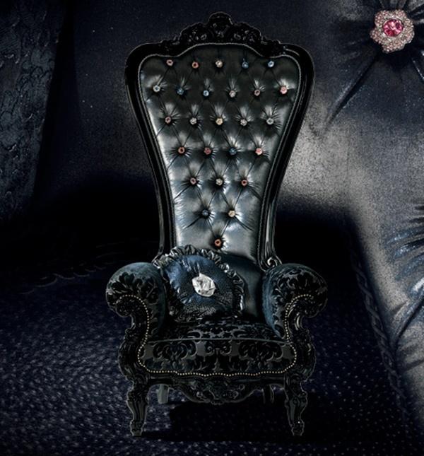 Goth Gothic Chair Victorian Furniture Fashion And