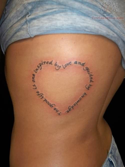 Heart Shaped Tattoos With Words Words-heart-tattoo-on-rib.