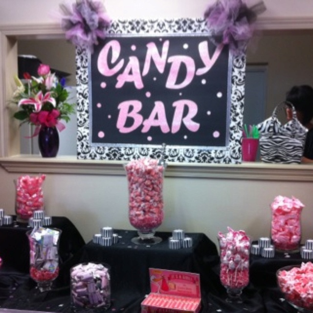 the candy bar at my baby shower party ideas pinterest
