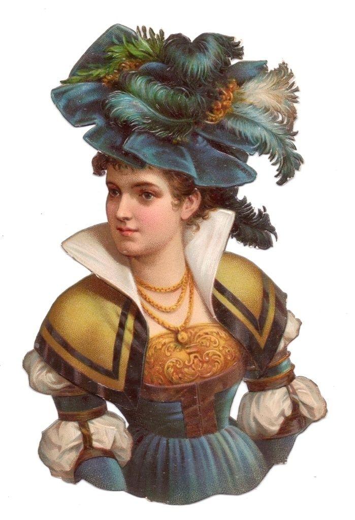 Scrap Victorian Lady — (699x1024)