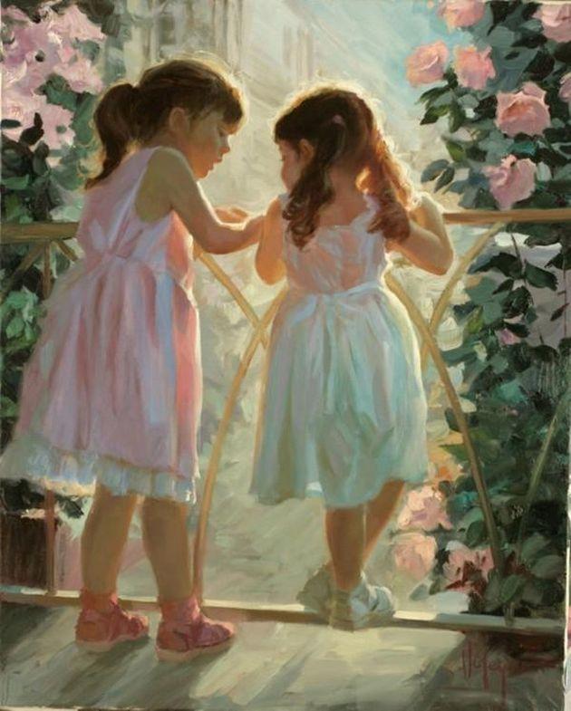 Children paintings by Vladimir Volegov