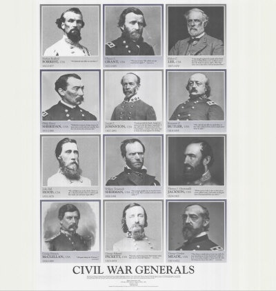 a comparison of the civil war generals Video: comparing union & confederate civil war strategies learn about the different strategies that the union and the confederacy used during the american civil war, and how those strategies.