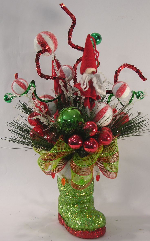 The gallery for gt unique christmas flower arrangements