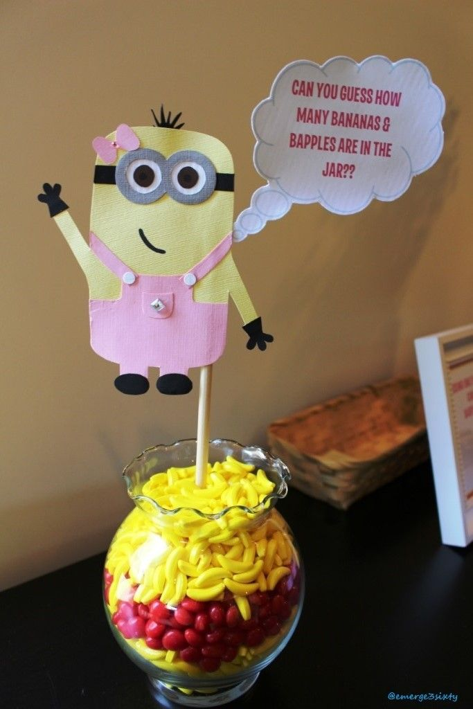 baby shower guess how bananas and bapples in the jar minion baby