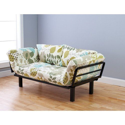 floral futon cover is perfect for smaller bedroom studio apartment