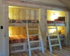 Cabin style bunk beds google search for Log cabin style bunk beds