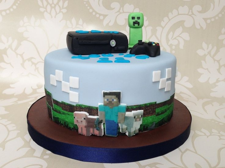 ... 360 birthday ideas | Minecraft Xbox 360 cake | Cole's Birthday Party