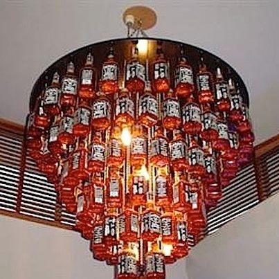 jack daniels chandelier awesomeness pinterest