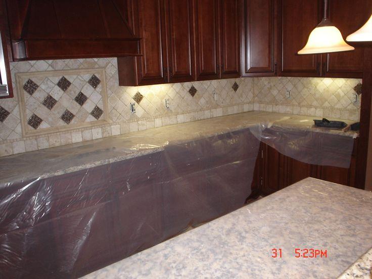 travertine backsplash kitchen remodel pinterest