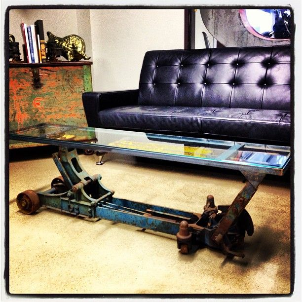 Floor jack table hot rods rat rods pinterest for Man cave coffee table ideas