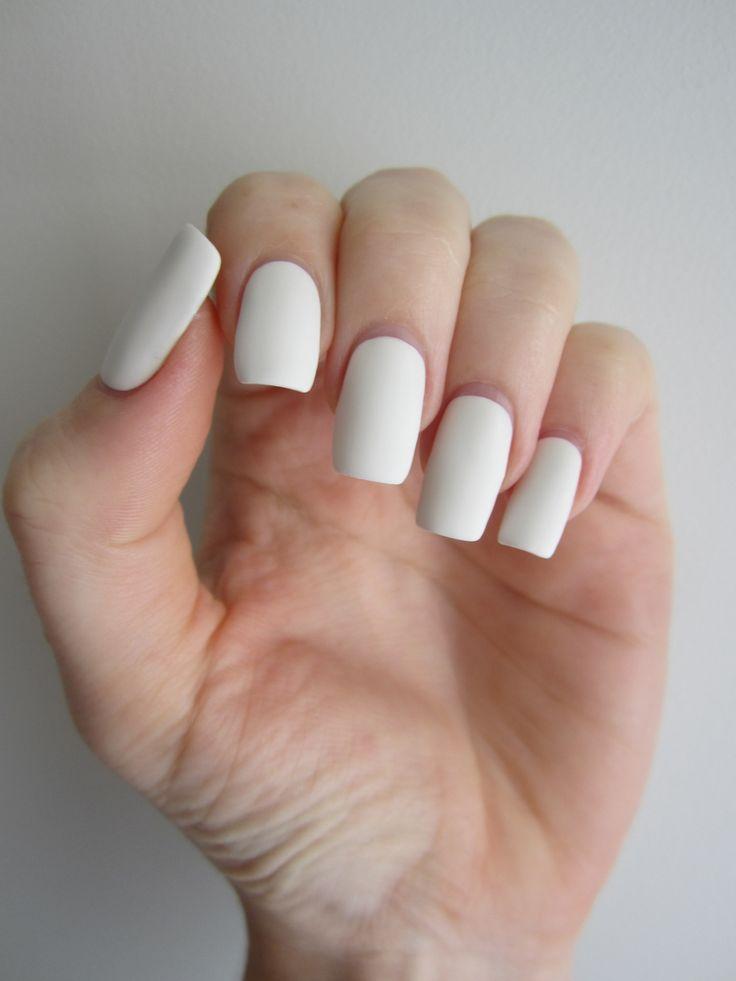 White matte nails