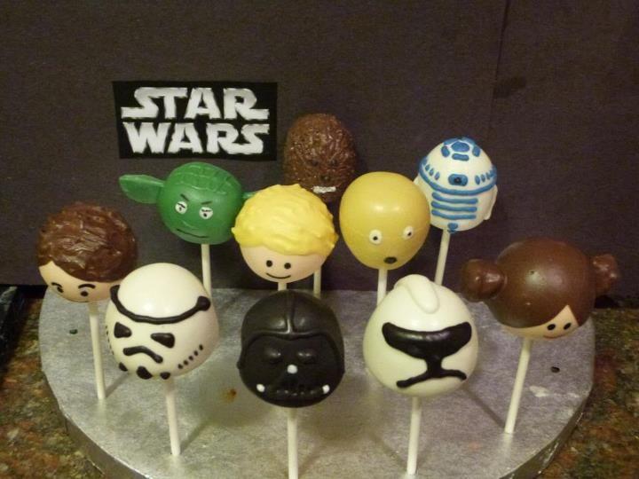 star wars cake pops My Gateway to diabetes Pinterest