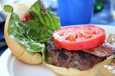 Feta Stuffed Bacon Burger... | Recipes from How To Cook a Wolf | Pint ...