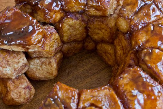 Monkey Bread with Bourbon Creme Anglaise