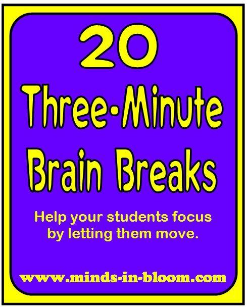 Classroom Break Ideas : A three minute movement break ideas for my classroom