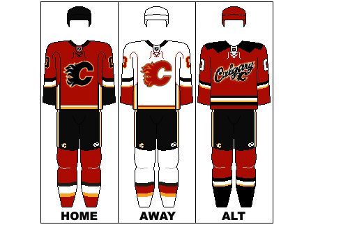 Calgary Flames Uniform 94