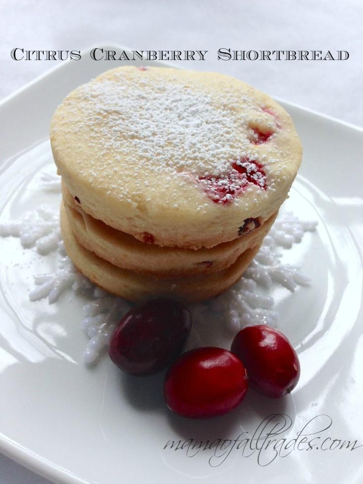 Cranberry Shortbread Recipe — Dishmaps