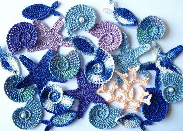 Вязание крючком морские элементы 42