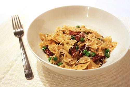 Farfalle with Carbonara and Spring Peas | Incredibly Delicious! | Pin ...