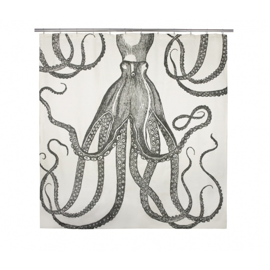 Spring Tension Curtain Rods IKEA Octopus Shower Curtain