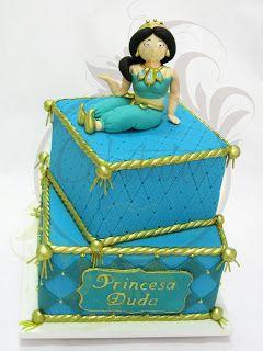Caketutes Cake Designer: Bolo Jasmine - Jasmine Cake - Aladin Cake