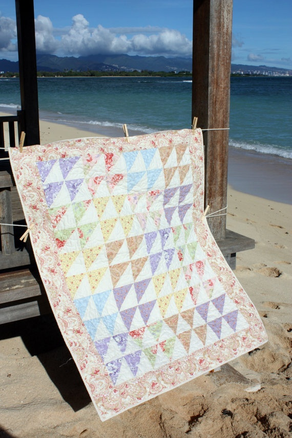 Shabby Chic Floral Baby Quilt | 570 x 855 · 190 kB · jpeg