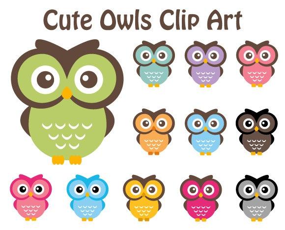 cute owls clip art