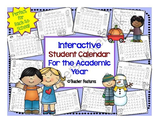 ... monthly calendar printables! Just print and hand out. Each month has