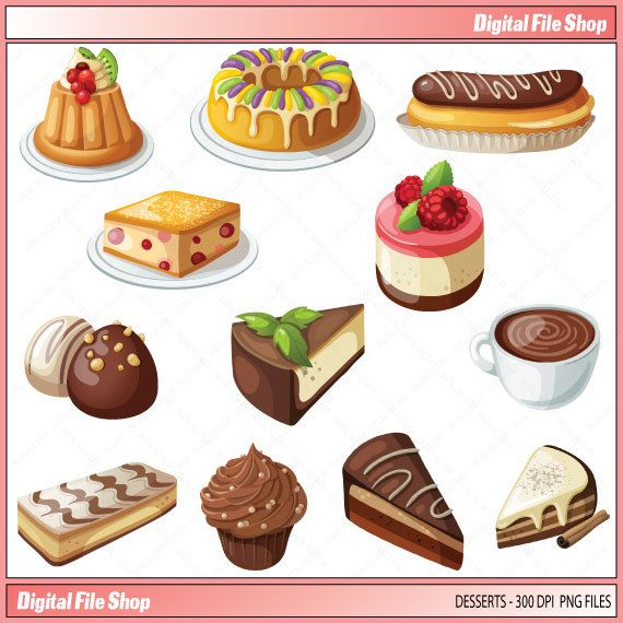 Free Clipart Cakes And Pies Desserts Pie Cake Clipart
