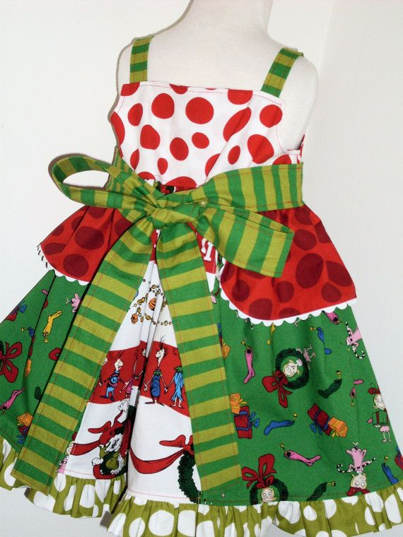 Grinch christmas knot jumper dress 2 3 4 5 6 7 8 custom boutique whov