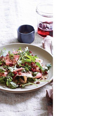 fennel, prosciutto, and pomegranate salad with coffee balsamic Sweet ...