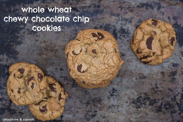 Whole Wheat Chewy Chocolate Chip Cookies | FOOD - Happy Endings | Pin ...