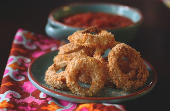 Low Fat Baked Onion Rings 4 Weight Watcher Points #weight watchers