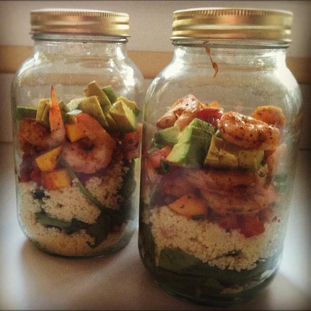 Shrimp with Avocado Mango Salsa #masonjarmeals #healthy #shrimp ...