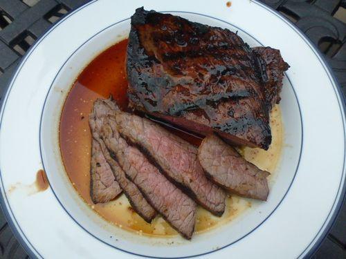 Garlic, Rosemary, Balsamic Marinated Steak