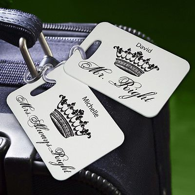 ... couples, great wedding gift! Personalized Couples Luggage Tags USD25.99