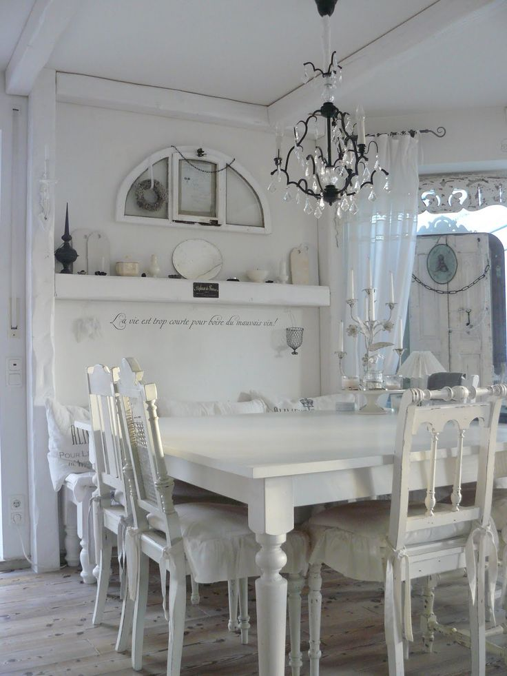 Pin by evi worth on shabby chic pinterest for Shabby chic dining room ideas
