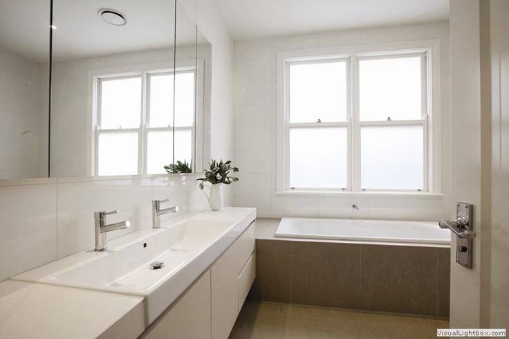 built in bath under window home pinterest